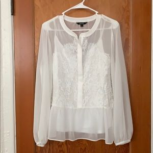 Simply Vera- Vera Wang, white lace tunic